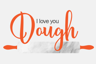 I love you dough logo mockup